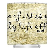 Say It Again Shower Curtain by Joan Carroll