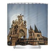 Scaligeri Family Tombs Shower Curtain by Maria Coulson