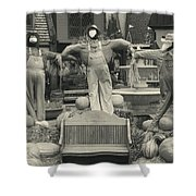 Scarecrows In Autumn Gatlinburg Tennessee Shower Curtain by Dan Sproul