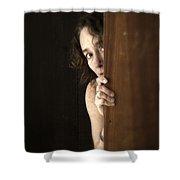 Scared Shower Curtain by Edward Fielding
