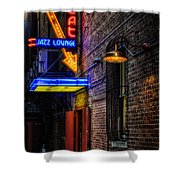 Scat Lounge Living Color Shower Curtain by Joan Carroll