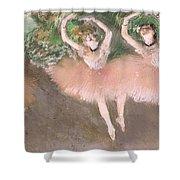 Scene De Ballet Shower Curtain by Edgar Degas