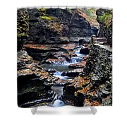 Scenic Cascade Shower Curtain by Frozen in Time Fine Art Photography