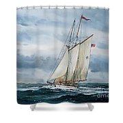 Schooner Adventuress Shower Curtain by James Williamson
