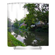 Schuylkill Canal Mont Clare Shower Curtain by Bill Cannon