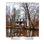 Schuylkill Canal Port Providence Shower Curtain by Bill Cannon
