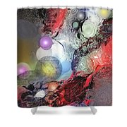 Sci-fi Shower Curtain by Francoise Dugourd-Caput