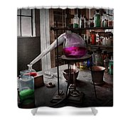Science - Chemist - Chemistry For Medicine  Shower Curtain by Mike Savad