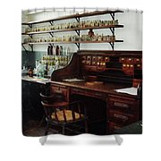 Scientist - Office In Chemistry Lab Shower Curtain by Susan Savad