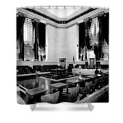 Scottish Rite Masonic Temple in Washington D.C. Shower Curtain by Mountain Dreams