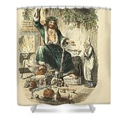 Scrooges Third Visitor Shower Curtain by Philip Ralley