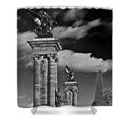 Sculptures Of Paris Shower Curtain by Mountain Dreams