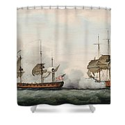 Sea Battle Shower Curtain by Francis Holman