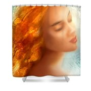 Sea Nymph Dream Shower Curtain by Michael Rock
