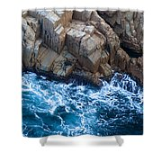 Sea Rocks Shower Curtain by Frank Tschakert