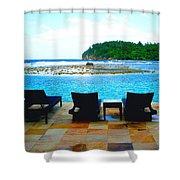 Sea Star Villa Shower Curtain by Carey Chen