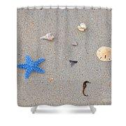 Sea Swag - Light Blue Shower Curtain by Al Powell Photography USA