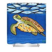 Sea Turtle Shower Curtain by Adam Johnson