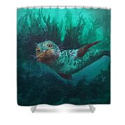 Seal Shower Curtain by Kathleen Kelly Thompson