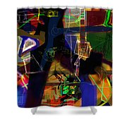 search for the straying son 11 Shower Curtain by David Baruch Wolk