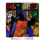 search for the straying son 13 Shower Curtain by David Baruch Wolk