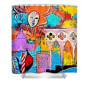 Search Of Lost Time In Venice Shower Curtain by Ana Maria Edulescu