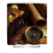 Searching For The Gold Treasure Shower Curtain by Gianfranco Weiss