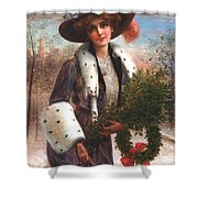 Seasons Greetings Shower Curtain by Emile Vernon
