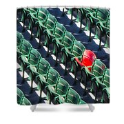Seat No. 21 Shower Curtain by Jerry Fornarotto