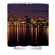 Seattle Night Reflections Shower Curtain by Mary Jo Allen