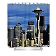 Seattle Skyline Shower Curtain by Benjamin Yeager
