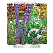 Secluded Pond Shower Curtain by Chuck Staley