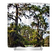 Secluded Retreat Shower Curtain by Lana Trussell
