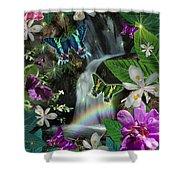 Secret Butterfly Shower Curtain by Alixandra Mullins