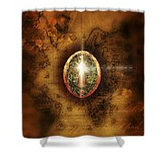 Secret Shower Curtain by Mo T