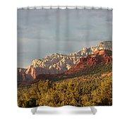 Sedona Sunshine Panorama Shower Curtain by Carol Groenen