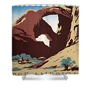 See America - Cowboys Shower Curtain by Nomad Art And  Design