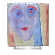 See right through me Shower Curtain by Hilde Widerberg