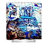 see the sea trolls Shower Curtain by Else Margrethe Widerberg