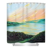 Seeded Spirit Shower Curtain by Meaghan Troup