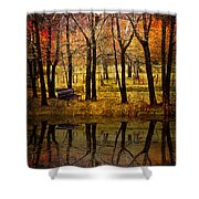 Seeing You Again Shower Curtain by Debra and Dave Vanderlaan
