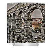 Segovia Aqueduct - Spain Shower Curtain by Juergen Weiss