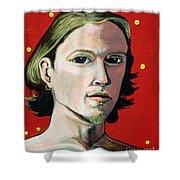 Self Portrait 1995 Shower Curtain by Feile Case