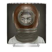 self portrait Shower Curtain by Balazs Solti