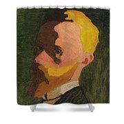 Self Portrait Shower Curtain by Edouard Vuillard