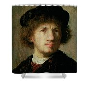 Self Portrait Shower Curtain by Rembrandt Harmenszoon van Rijn