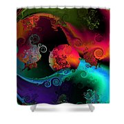 Seperation And Individuation Shower Curtain by Claude McCoy