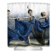 Sequential Dancer Shower Curtain by Richard Young