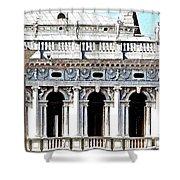 Serenade In Venice Shower Curtain by Ira Shander