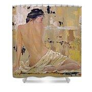 Serenity Shower Curtain by Laura Lee Zanghetti